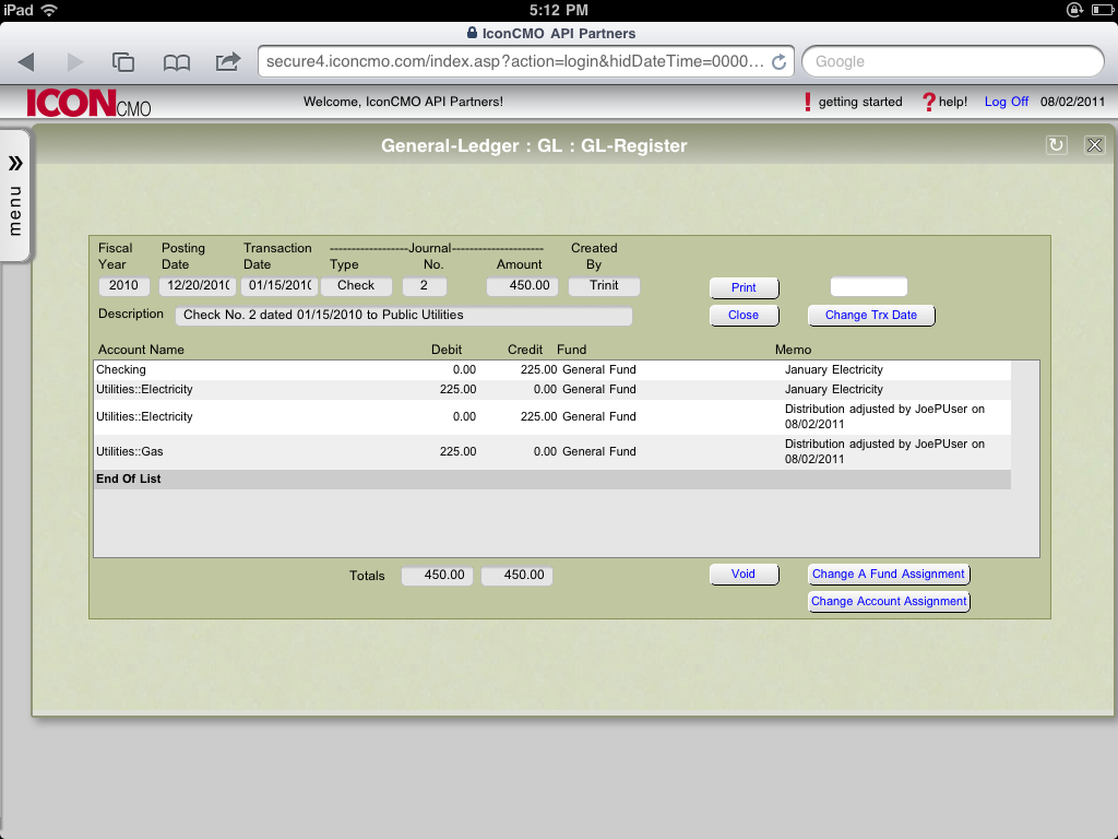 Reclassify expense accounts user interface