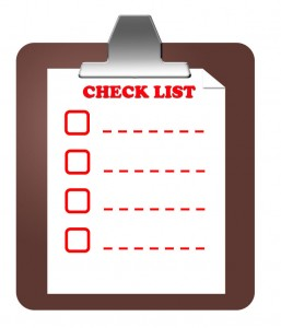 picture of a checklist on a clipboard which resembles the checklist that the church should make when they are looking for donation software