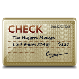 image of a check using it for a church blog about checking accounts