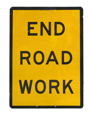 Changes to IconCMO End Road Work Sign