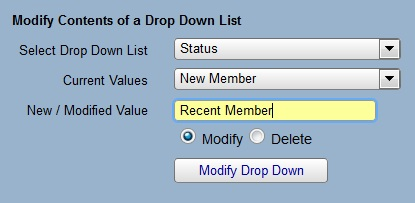 change two to membership status in iconcmo church management software