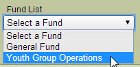 Fund List for accounting funds
