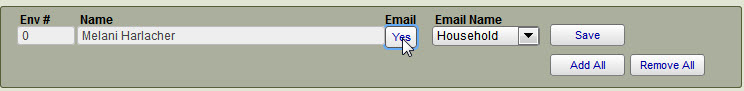 Setup for Emailing Contribution Statements
