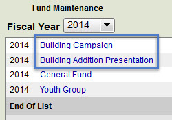 Contribution Funds to Link to Accounting