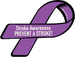 Stroke Awareness Ribbon which is purple