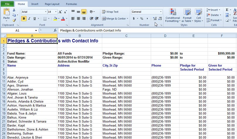 mail merge with excel