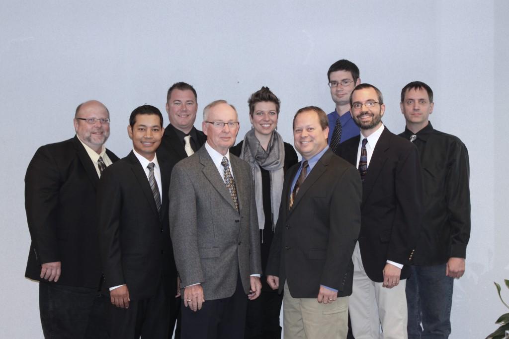 From left to right: Steve, Sajin, Josh, Bob, Michelle, Bill, Robert, David, Jay