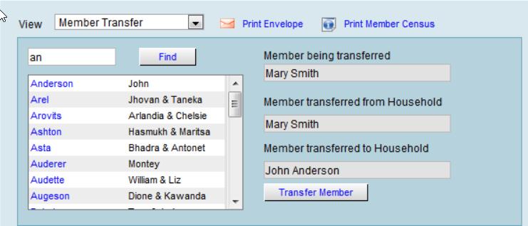 Member Transfer