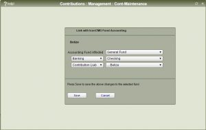 Accounting link - pass through accounts
