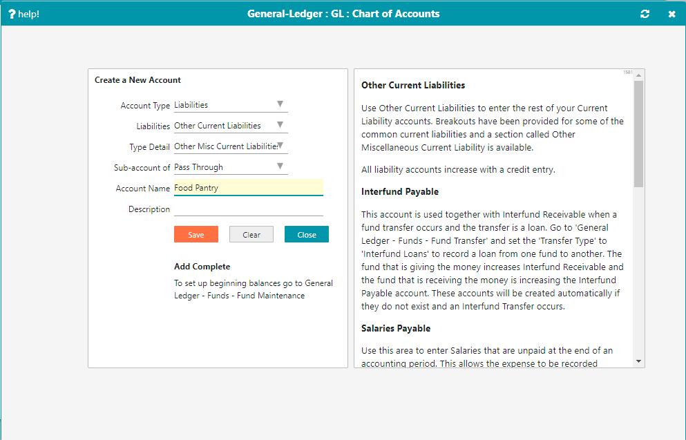 Creating a Pass Through Account