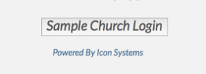 Example of button you can put on your church's website (you can customize the text.)
