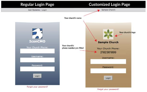 image showing the login screens for the member portal