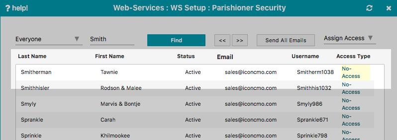 member portal security screen user interface