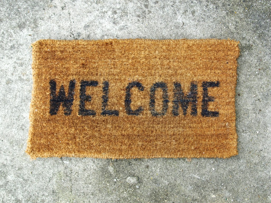 welcome church visitors