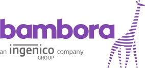 Bambora online giving solution company's name and logo.