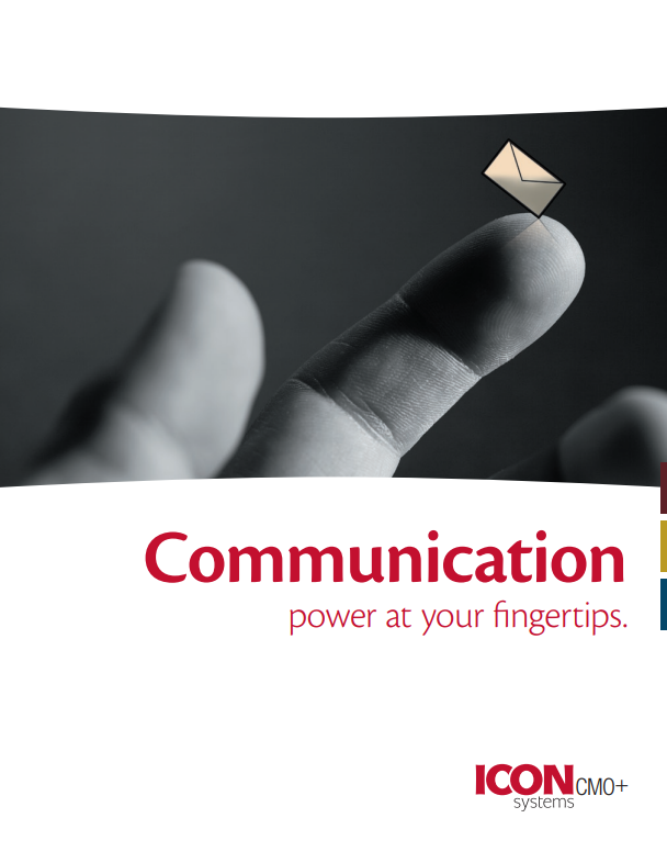 Church communication for the denomination. It shows a finger with an envelope.