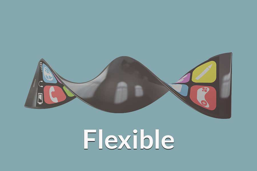 A cell phone twisting to show flexibility