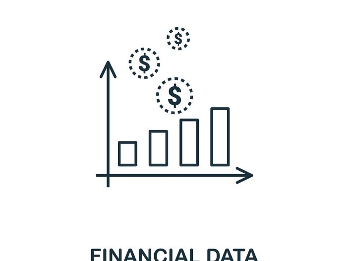 Financial Data outline icon. Thin line style icons from personal finance icon collection. Web design, apps, software and printing simple financial data icon.