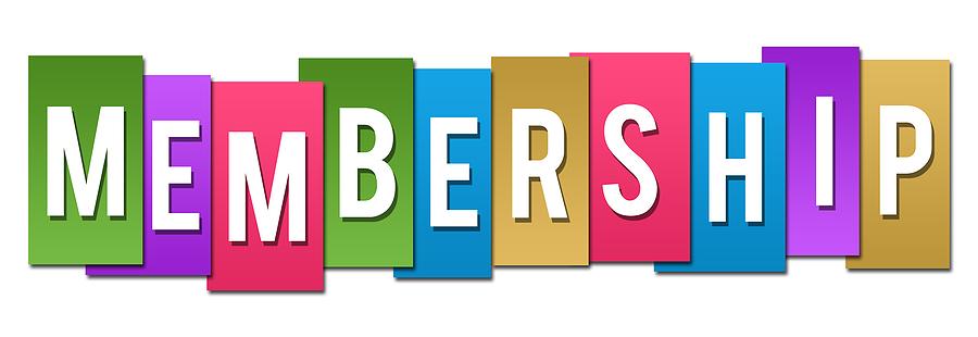 Membership text written over colorful horizontal background symbolizing church membership online.