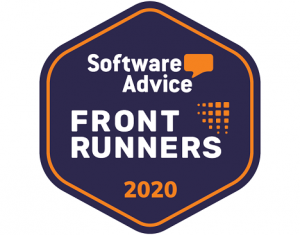 Software Advice front runner 2020 badge for their church software review.