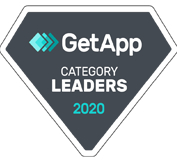 GetApp category leaders 2020 badge for their church software review.