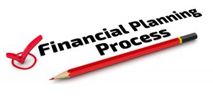 Financial Planning Process words written in black text. The Check Mark.