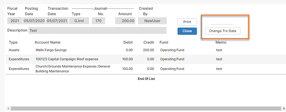 Fix accounting mistake - bad memo or description