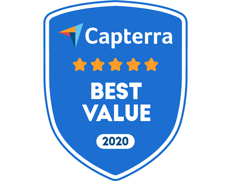 church software value badge from Capterra 2020